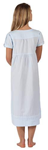 Inconnu The 1 for U - Chemise de Nuit - Manches Courtes - Femme Blanc Blanc XX-Large - Bleu - XX-Large 24