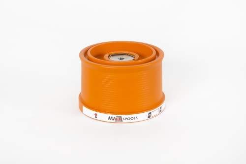 Mv Spools Bobine e Accessori compatibili con Mulinello Shimano Super Aero Fliegen SD (Arancione, 0.26/350m-0.30/300m-0.35/250m)