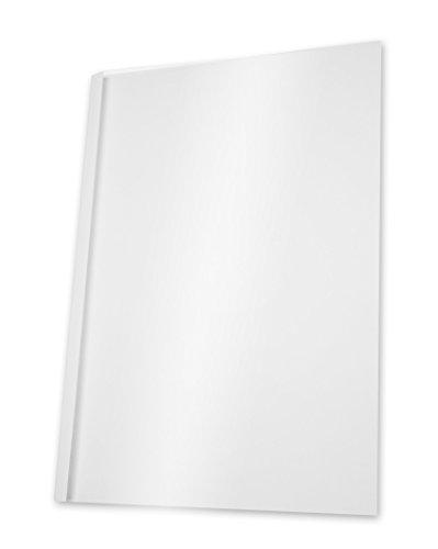 Pavo Pack de 100 Couvertures de reliure thermique standard 8 mm Blanc 22