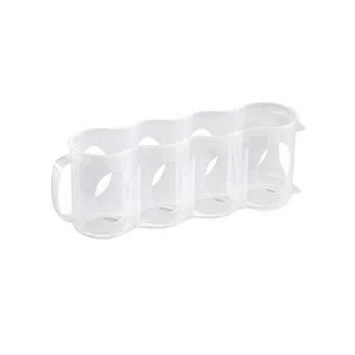 Topxingch - Porta lattine da frigorifero con 4 scomparti Transparent