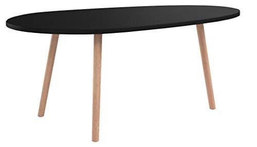CLP Tavolino Ovale da Salotto Moderno Herning in Legno - Tavolo da caffè Soggiorno Scandinavo in...