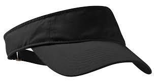starstep Boys/Girls Black Sun Visor hat/Cap Adjustable for Golf Tennis Fishing Jogging Plain Cap Without Logo