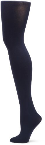 Hue Women's Super Opaque Sheer To Waist Tight, Navy,Size 3