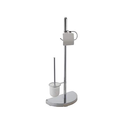 Ribelli Toilettenpapierhalter freihstehend mit Klobürste WC Garnitur Rollenhalter Papierhalter Toilettenbürste Ständer Verschiedene Ausführungen (Garnitur 7)
