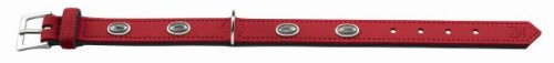 Hunter Hundehalsband Softie Stone, Größe 60, rot/schwarz, Kunstleder