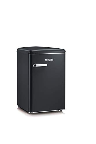 Severin RKS 8832, Frigorifero - Congelatore 106 Litri, design Retrò, colore Nero opaco