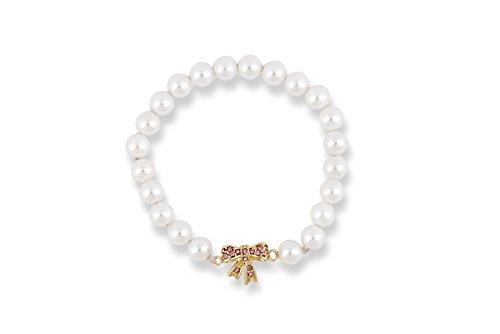 616d497a512f Pearl de recuerdo de bautizo regalo y bebé pulsera con oro y diseño ...