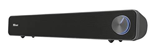 Trust Arys Soundbar Dal Design Raffinato e Potenza In Uscita di 12 Watt, Nero