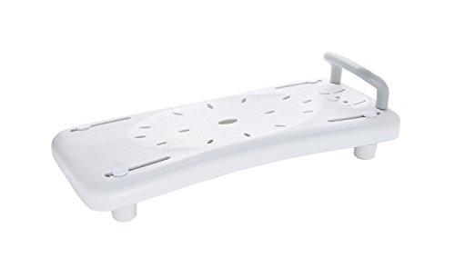 RIDDER Assistent  A0040101 Badewannen-Brett, Badewannensitz mit Haltegriff, weiß