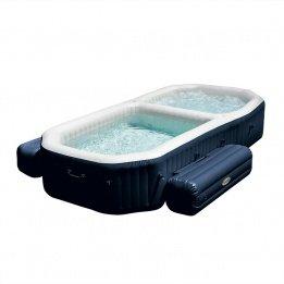 Intex PureSpa - Spa con piscina hinchable, 3.86 x 2.57 x 71 cm, 120 burbujas Spa, 150 burbujas piscina (28492)