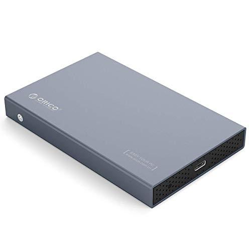 Orico Custodia rigida in alluminio USB 3.1 tipo C per HDD e SSD SATA III da 2.5 pollici