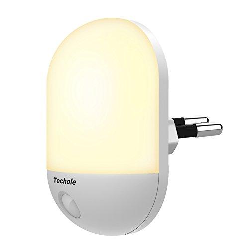 Luce Notturna LED, Techole Automatiche Lampade da Presa con Sensore di Luce, Plug-and-Play, Lampada...