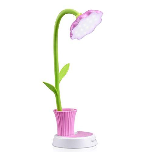 OCOOPA Schreibtischlampe für Kinder,Dimmbare Nachttischlampe mit Touchsensor,Augenfreundlich Leselampe mit Stifthalter,USB Wiederaufladbare Tischlampme für Kinder, Mädchen,(Rosa)