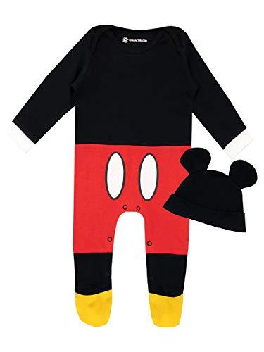 Disney Set di Tutina da Notte e Cappello per Bambino Mickey Mouse Rosso 12-18 Mesi