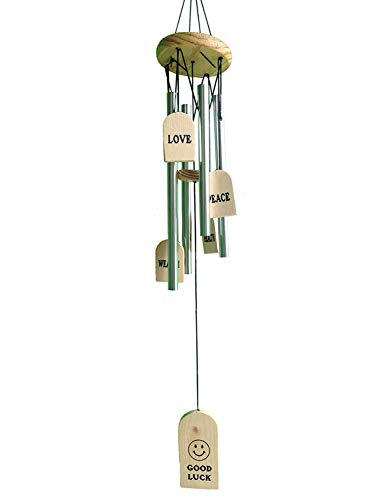 GUPTA FANCY STORE Wind Chime with The Positive Energy 4 Silver Pipes Good Luck Height (35 Inches, Multicolour)