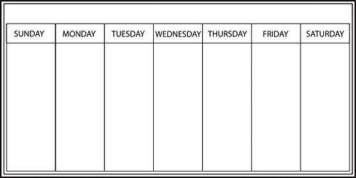 Wallpops Fine Décor - Agenda settimanale autoadesiva da parete, della gamma, 33 x 66 cm, colore:...