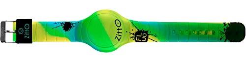 ZITTO CAMO GREEN GRANDE 44 Mm per Bambini e ragazzini in silicone anallergico e tecnologia Led -...