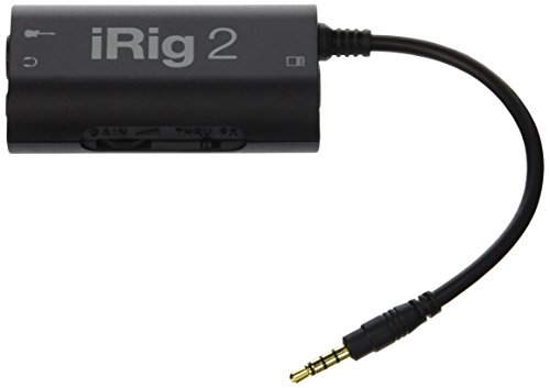 IK Multimedia iRig 2 Interfaccia per chitarra per iPhone, iPad, Mac, Nero