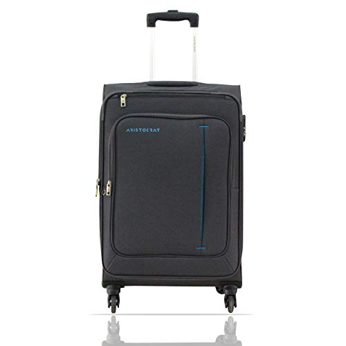 Aristocrat Elantra 80 cms Polyester Grey Softsided Check-in Luggage (STELAWH79GRY)