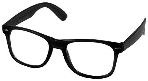 Hornbrille Atzenbrille Nerd Brille Klar oder als Sonnenbrille wayfarer Brille Nerdbrille in verschiedenen Farben.