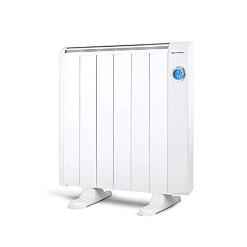 Orbegozo RRE 1010 – Emisor térmico bajo consumo, 1000 W de potencia, 6 elementos, pantalla digital LCD, mando a distancia y funcionamiento programable
