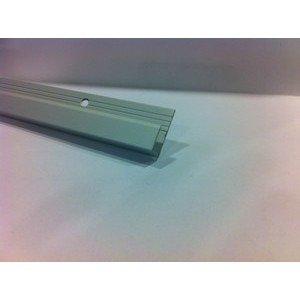 Profilo terminale per laminato alluminio anodizzato argento altezza 9mm 67477.270 RC Profilpas