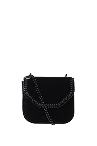 Stella Mccartney Women s 469027W80851000 Black Velvet Shoulder Bag ... f7b5754ea7156