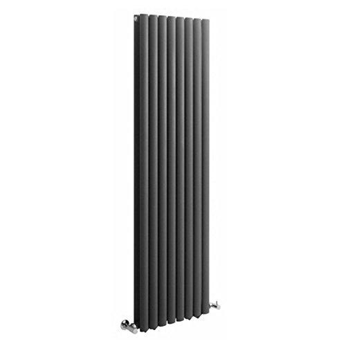 Milano Hudson Reed Vitality - Radiateur Design Vertical - Anthracite - 178 x 47,2cm Double Rang