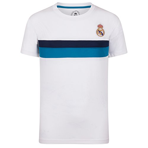 Real Madrid Camiseta Oficial Para Entrenamiento - Para Niño - Poliéster - Blanco - 10 Años
