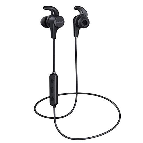 AUKEY Auricolari Bluetooth Bassi Potenziati, Cuffie Bluetooth Senza Fili Sport, Impermeabile a Prova...