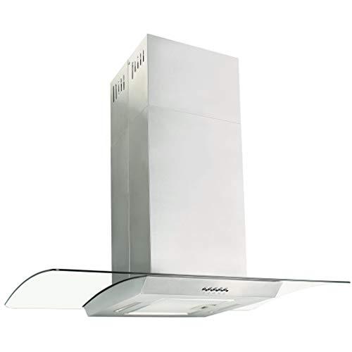 vidaXL Cappa a Isola 90 cm Acciaio Inossidabile 756 m³/h LED Filtro Cucina