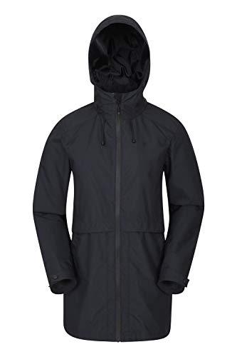 Mountain Warehouse Rain Drops, Impermeabile da Donna - con Cuciture Nastrate, Leggero e Traspirante - per Viaggi, Campeggio e Passeggiate Nero 42