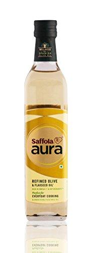 Saffola Aura Refined Olive & Flaxseed Oil - 500ml