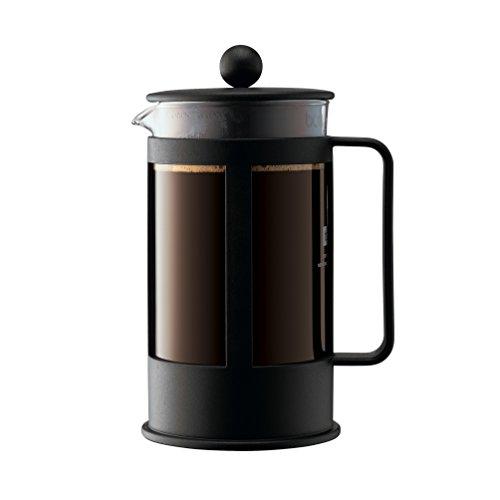 Bodum 1788-01, Caffettiera a pistone Kenya  da 1,0 L per 8 tazze, colore: Nero