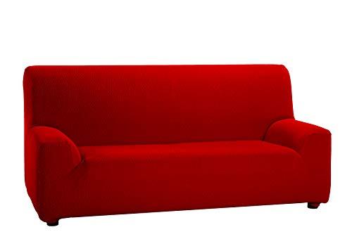 Martina Home Tunez - Copridivano Elasticizzato 2 posti 2 Plazas (120-190 cm) Rosso