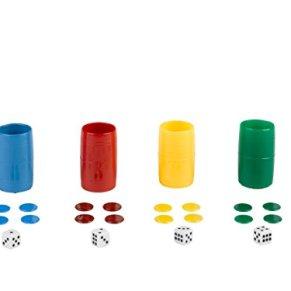 Falomir Set Completo de 4 cubiletes de plástico (Accesorios), Multicolor (27932)