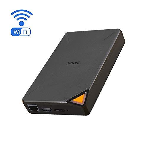 SSK Hard Disk portatile wireless da 1TB,archiviazione intelligente,hard disk esterno con hotspot...