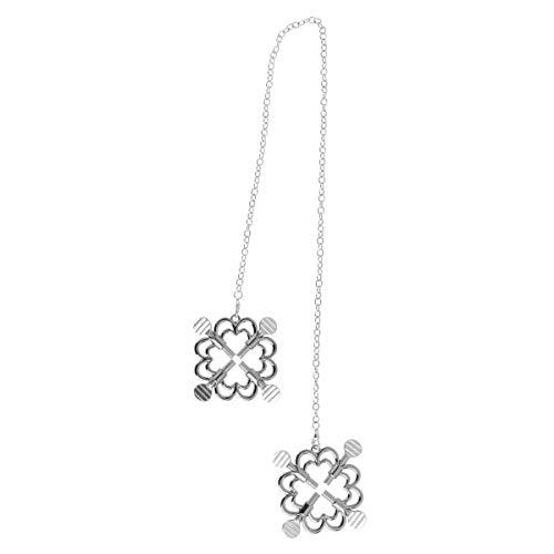 Agoky Nippelklemmen einstellbar Brustwarzenklemmen mit Metallkette Blumen Form Sexspielzeug für Herren und Frauen Silber B One Size