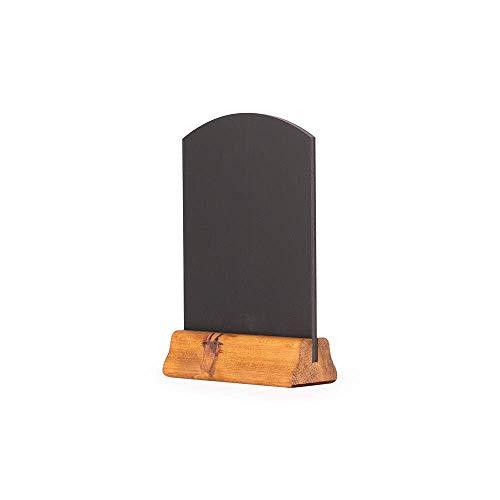 Chalkboards UK, Lavagna da Tavolo con piedistallo in Legno, Colore: Marrone, 23x 15x 4cm