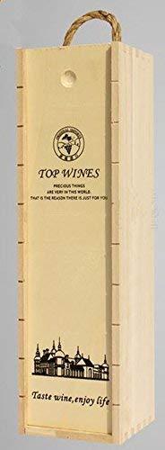Xichen @ singola bottiglia di legno vino box Carrier Crate case Best gift Decor 35 * 10 * 10cm