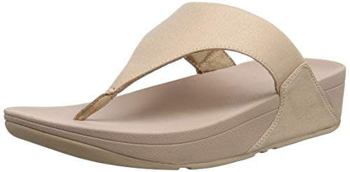 Fitflop Lulu SHIMMERLUX, Infradito Donna, Rosa (Rose Gold 323), 37 EU