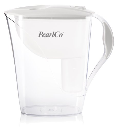 PearlCo Fashion 3.3L water filter jug with cartridges bundle (white) (1 month of PearlCo Classic) (1 cartridge)