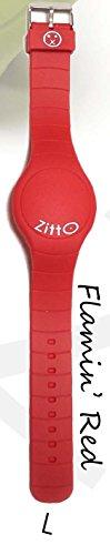 Orologio ZITTO a led con cinturino in silicone Flamin Red Rosso Grande