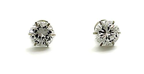 Silverwala 925 Sterling Silver Brilliant Cut Cubic Zirconia Stud Earrings For Women