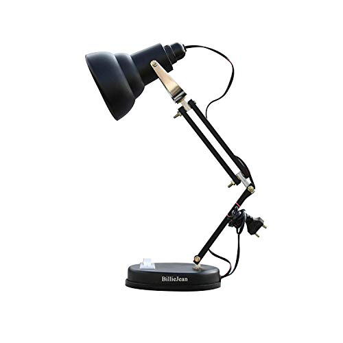 BillieJean Reading & Study Matte Black Table Lamp