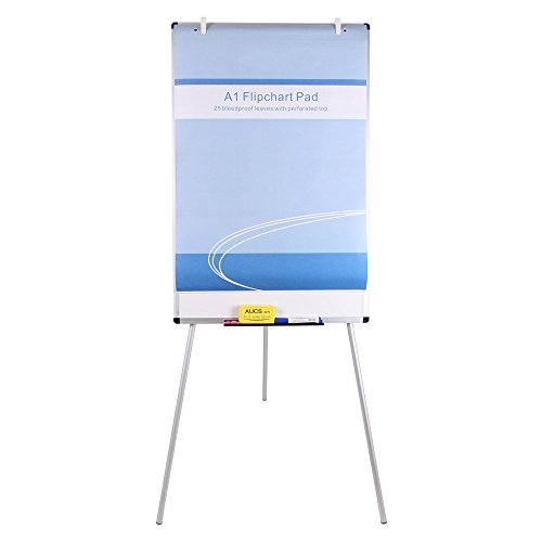 VIZ-PRO Lavagna Magnetica - Cavalletto Treppiedi Easy - Lavagna a fogli mobili, 90 x 60 cm