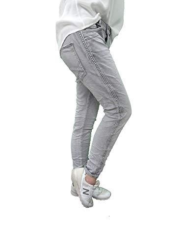 Karostar Stretch Baggy Boyfriend Jeans Nieten Seitenstreifen (3XL-46,...