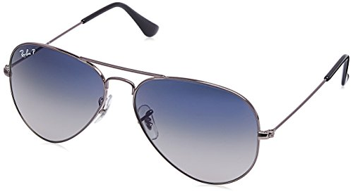 Ray-Ban Polarized Aviator Men's Sunglasses - (0RB3025I004/7858|58|Polar Blue Color)