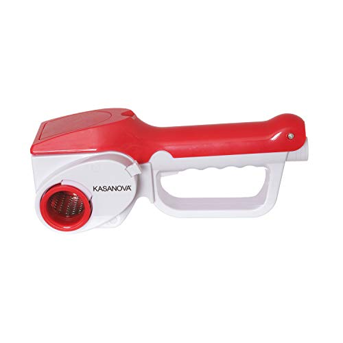 Grattugia elettrica rossa 3 lame da 12 W, in plastica e acciaio