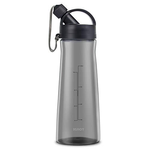 Zeewoo 1.5L Eco Bottiglia Acqua BPA Free Sportiva Riutilizzabile Bottiglia, a Prova di Perdite, Sport, Yoga, Viaggio all'Aria Aperta Borraccia